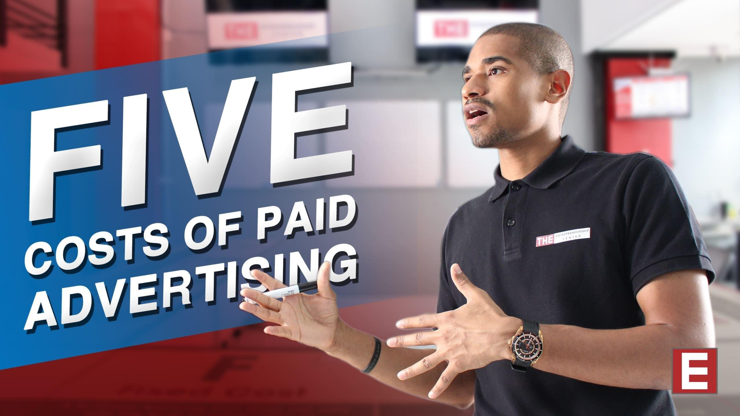 Five cost of pay advertisment